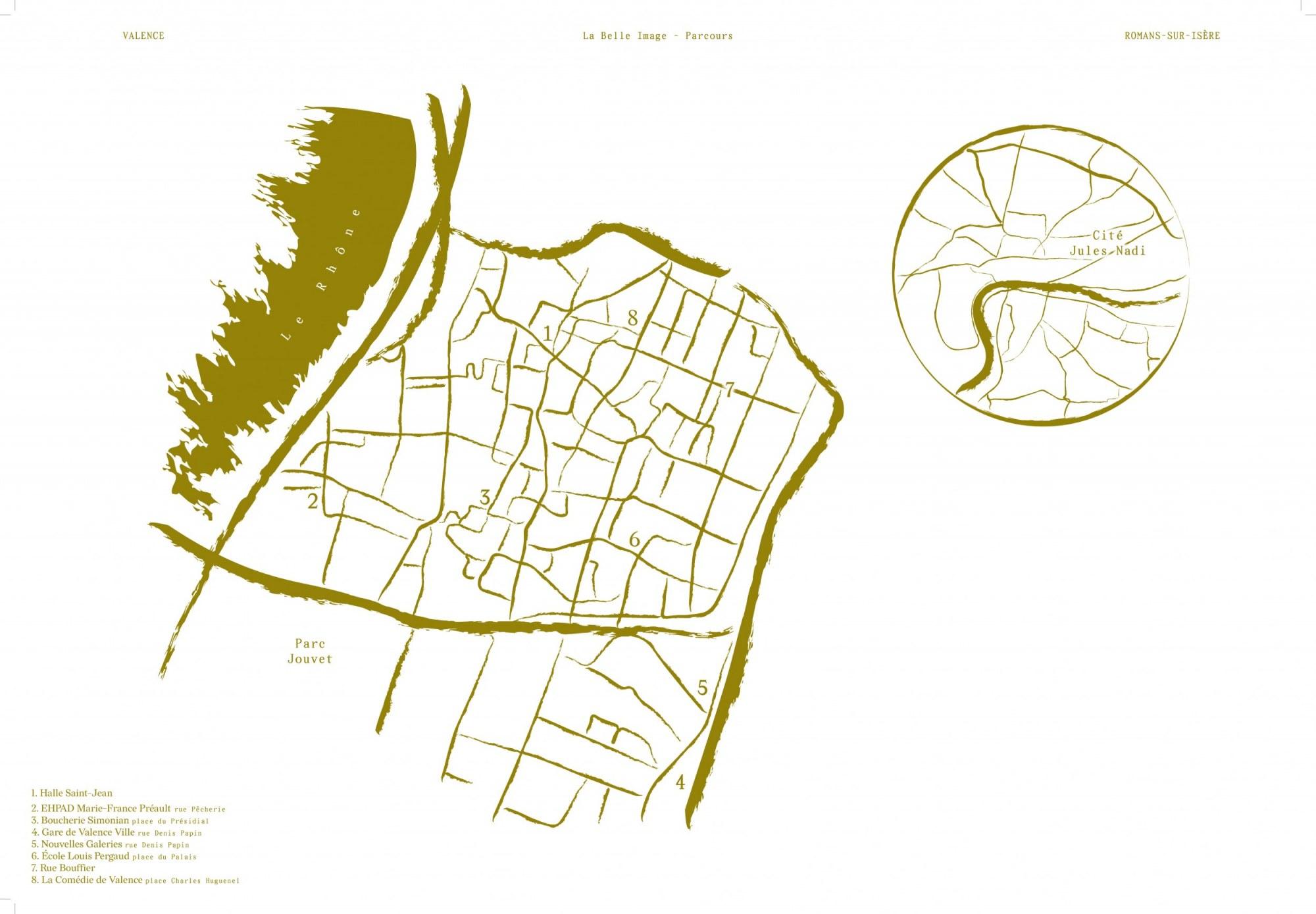 La carte du parcours © Romain Guillo