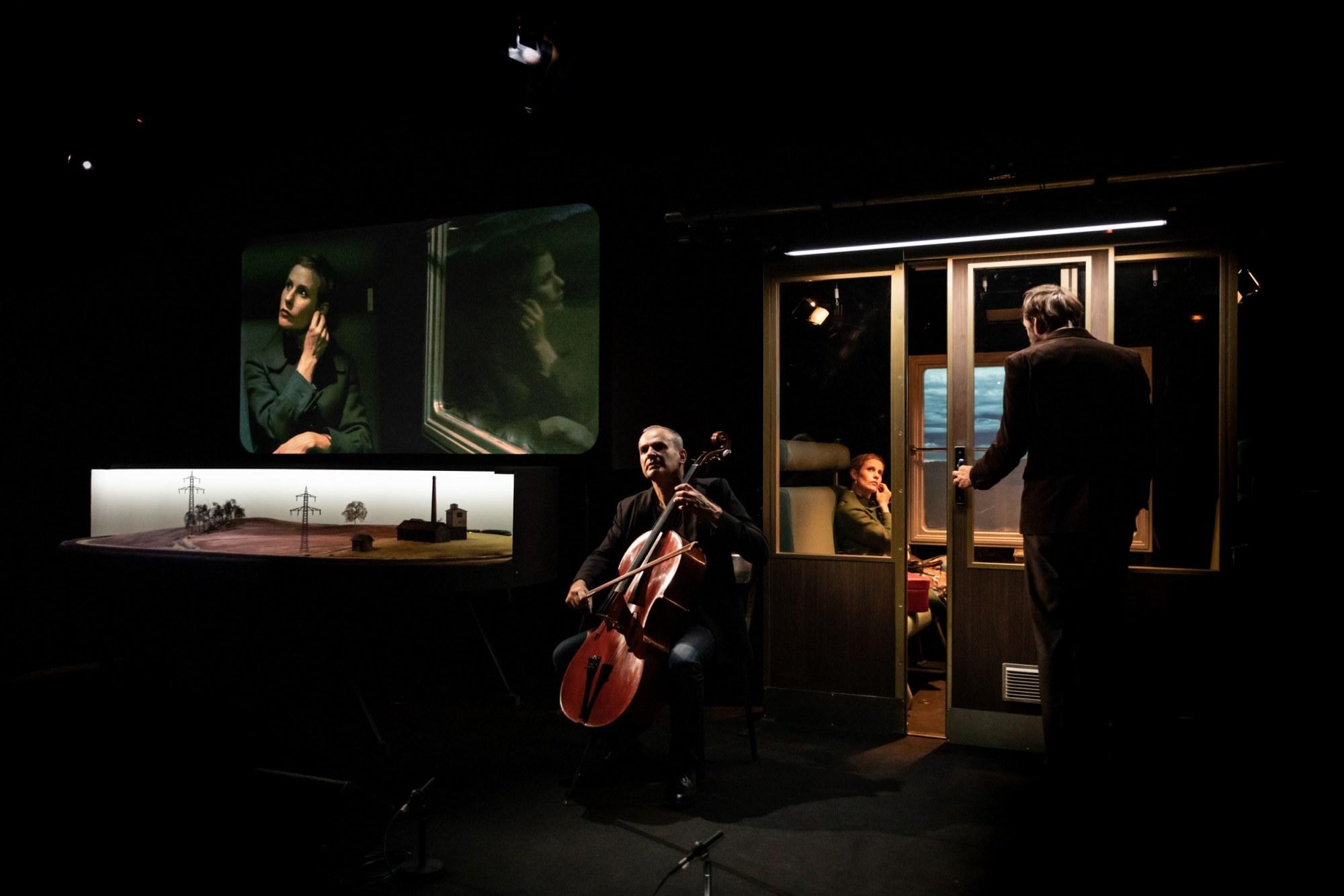 Nos Paysages mineurs, photo de répétition © Simon Gosselin